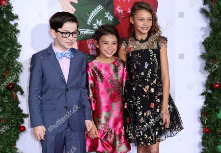 "Owen Vaccaro, Scarlett Estevez, Didi Costine. Owen Vaccaro, from left, Scarlett Estevez and Didi Costine arrive at the LA Premiere of ""Daddy's Home 2"" at the Regency Village Theatre, in Los Angeles"