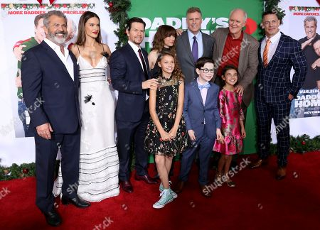 "Mel Gibson, Alessandra Ambrosio, Mark Wahlberg, Didi Costine, Linda Cardellini, Owen Vaccaro, Will Ferrell, Scarlett Estevez, John Lithgow, John Cena. Mel Gibson, from left, Alessandra Ambrosio, Mark Wahlberg, Didi Costine, Linda Cardellini, Owen Vaccaro, Will Ferrell, Scarlett Estevez, John Lithgow and John Cena arrive at the LA Premiere of ""Daddy's Home 2"" at the Regency Village Theatre, in Los Angeles"
