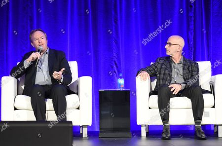 Stock Image of Paul Hanson, CEO, Covert Media, and Russell Levine, CEO, Route One Entertainment