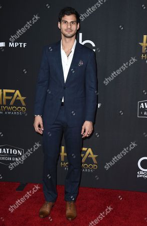 Skyler Bible arrives at the Hollywood Film Awards at the Beverly Hilton hotel, in Beverly Hills, Calif