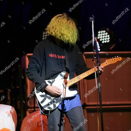 Guitarist/singer Christian Zucconi, of Grouplove, performs on stage at the Capitol One Arena, in Washington