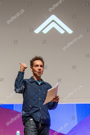 Malcolm Gladwell seen on day two of Summit LA17 in Downtown Los Angeles's Historic Broadway Theater District, in Los Angeles