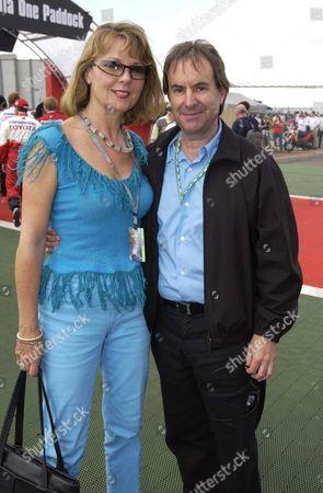 Chris de Burgh with his wife Diane Davison