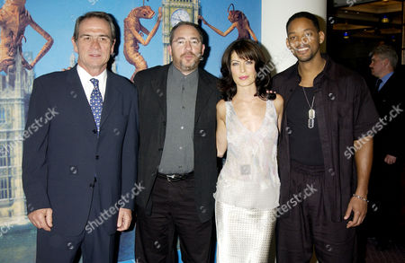 Tommy Lee Jones, director Barry Sonnenfeld, Lara Flynn Boyle and Will Smith