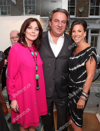 Stock Photo of Susan Young and Nick and Maxine Leslau