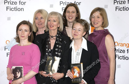 The shortlisted authors before the presentation of awards - Helen Dunmore, Anna Burns, Chloe Hooper, Sarah Waters, Ann Patchet and Maggie Gee