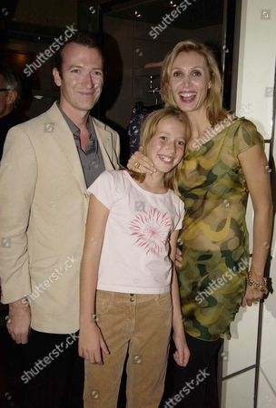 Allegra Hicks with her husband Ashley Hicks and their eldest daughter Angelica