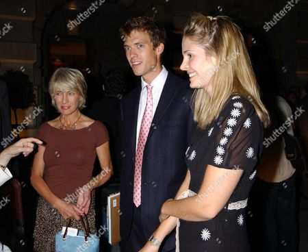 Lady Jane Rice with her son Donald and guest
