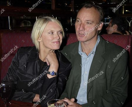 Anneka Rice with her partner Simon Bell