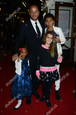 Stephen Belafonte with his daughter Giselle and step children Angel Iris Murphy Brown, Phoenix Chi Gulzar