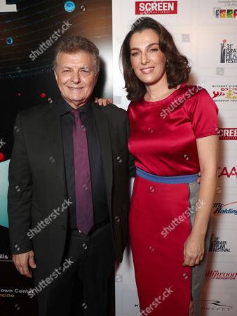 Director/founder of the Israel Film Festival Meir Fenigstein and Ayelet Zurer