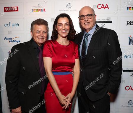Director/founder of the Israel Film Festival Meir Fenigstein, Ayelet Zurer and Jeffrey Tambor