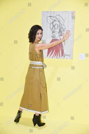 Stock Image of Stefanie Sun promotes for her new album Sun Yanzi No. 13 works: A Dancing Van Gogh