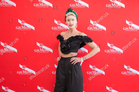 Kate Peck in the G.H Mumm marquee