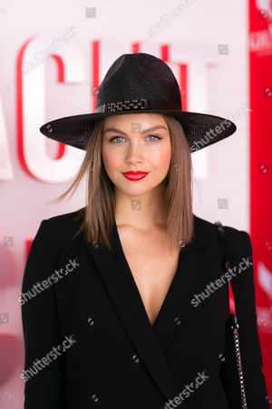 Ksenija Lukich in the G.H Mumm marquee