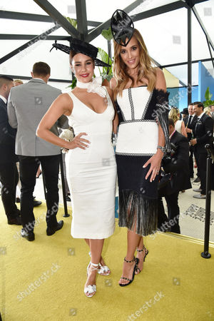 Lauren Phillips and Rebecca Judd in the MYER Marquee