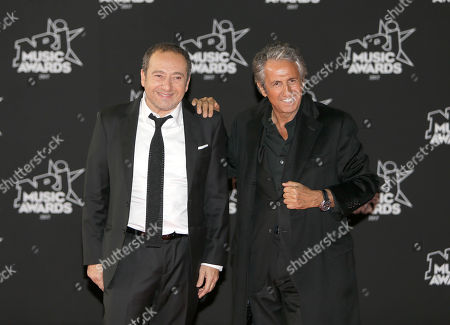 Patrick Timsit, Richard Anconina. French actors Patrick Timsit, left, and Richard Anconina pose before the NRJ Music awards ceremony, in Cannes, southeastern France