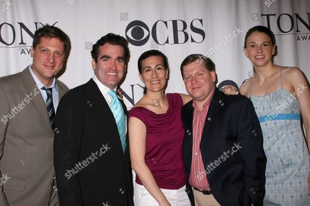 Christopher Sieber, Brian d'Arcy James, Jeanine Tesori, David Lindsay-Abaire, Sutton Foster