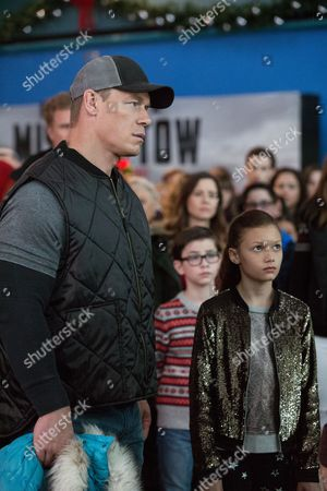 Stock Picture of John Cena, Owen Wilder Vaccaro, Adriana Costine