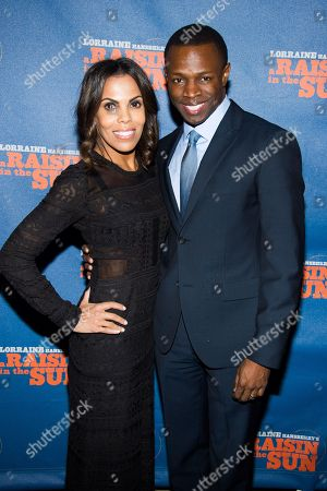 "Aonika Laurent and Sean Patrick Thomas attend the opening night after party for ""A Raisin in the Sunâ?? on in New York"