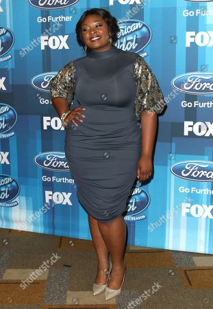 """Stock Photo of Candice Glover arrives at the """"American Idol"""" farewell season finale at the Dolby Theatre, in Los Angeles"""