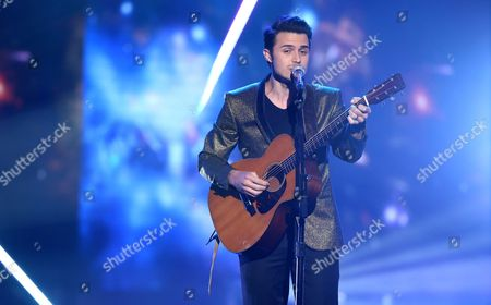 """Stock Photo of Kris Allen performs at the """"American Idol"""" farewell season finale at the Dolby Theatre, in Los Angeles"""