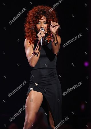 "Stock Picture of Tamyra Gray performs at the ""American Idol"" farewell season finale at the Dolby Theatre, in Los Angeles"