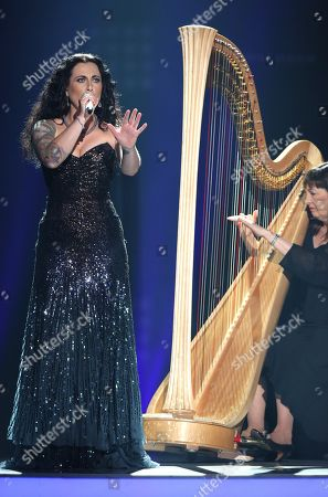 "Stock Image of Carly Smithson performs at the ""American Idol"" farewell season finale at the Dolby Theatre, in Los Angeles"