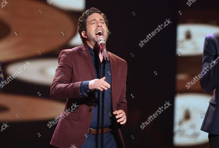 "Stock Photo of Elliott Yamin performs at the ""American Idol"" farewell season finale at the Dolby Theatre, in Los Angeles"