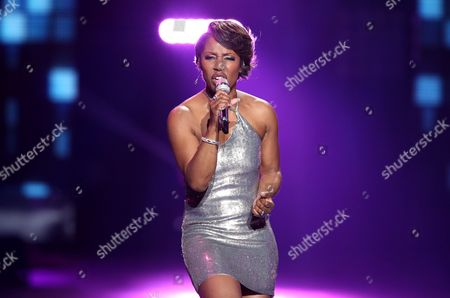 "LaToya London performs at the ""American Idol"" farewell season finale at the Dolby Theatre, in Los Angeles"