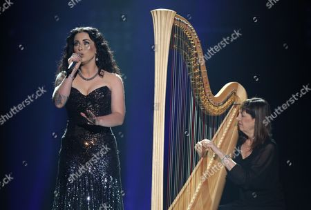 """Stock Image of Carly Smithson performs at the """"American Idol"""" farewell season finale at the Dolby Theatre, in Los Angeles"""