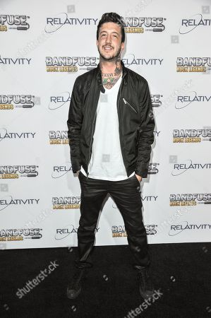 "Austin Carlile arrives at the ""Bandfuse: Rock Legends"" video game launch at the House of Blues on in Los Angeles"