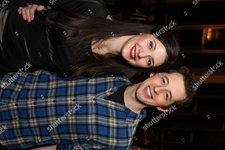 "From left, cast members Sara Niemietz and Josh Grisetti pose during a staged reading of ""Enter Laughing, The Musical"" to benefit Center Theatre Group at the Mark Taper Forum on in Los Angeles, Calif"
