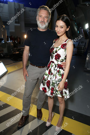 """Bill Pullman and Grace Huang seen at the """"Independence Day Resurgence"""" Global Production Event, in Albuquerque, New Mexico"""