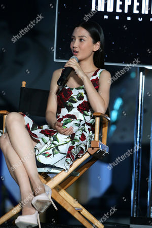 """Stock Picture of Grace Huang seen at the """"Independence Day Resurgence"""" Global Production Event, in Albuquerque, New Mexico"""