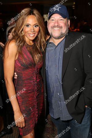 """From left, Cast member Deborah Cox and Composer Frank Wildhorn pose during the party for the opening night performance of """"Jekyll & Hyde"""" The Musical at the La Mirada Theatre for the Performing Arts, in La Mirada, Calif"""
