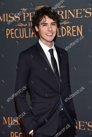 """Actor Finlay MacMillan attends """"Miss Peregrine's Home for Peculiar Children"""" red carpet event at Saks 5th Avenue, in New York"""