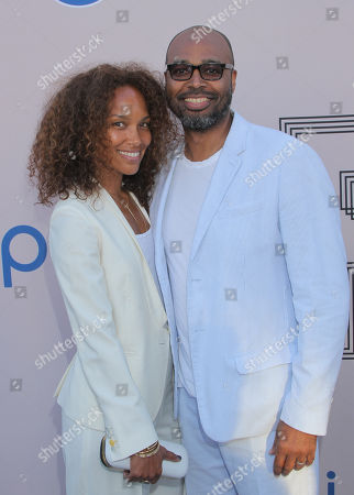 "Mara Brock Akil, left, and Salim Akil at the ""PRE"" BET Awards Dinner at Milk Studios, in Los Angeles, Calif"
