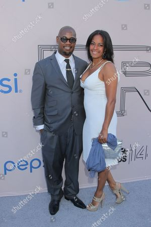 """Andre Harrell and guest at the """"PRE"""" BET Awards Dinner at Milk Studios, in Los Angeles, Calif"""