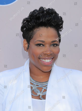 """Stock Picture of Nicci Gilbert arrives at the """"PRE"""" BET Awards Dinner at Milk Studios, in Los Angeles, Calif"""