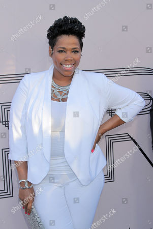 """Stock Image of Nicci Gilbert arrives at the """"PRE"""" BET Awards Dinner at Milk Studios, in Los Angeles, Calif"""