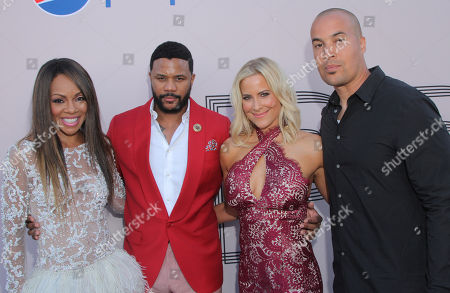 """Wendy Raquel Robinson, Hosea Chanchez, Brittany Daniel and Coby Bell at the """"PRE"""" BET Awards Dinner at Milk Studios, in Los Angeles, Calif"""
