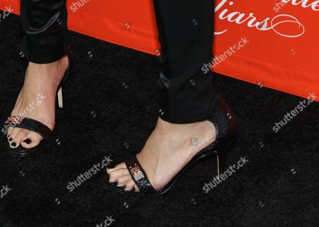 """Actress Nicole Gale Anderson (shoe detail) arrives at the """"Pretty Little Liars"""" screening of a special Halloween episode at the Hollywood Forever Cemetery on in Los Angeles"""
