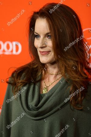 "Actress Laura Leighton arrives at the ""Pretty Little Liars"" screening of a special Halloween episode at the Hollywood Forever Cemetery on in Los Angeles"