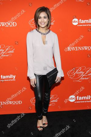 """Actress Nicole Gale Anderson arrives at the """"Pretty Little Liars"""" screening of a special Halloween episode at the Hollywood Forever Cemetery on in Los Angeles"""