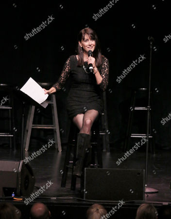 "Stephanie Miller participates in the ""Sexy Liberal"" tour at the Pantages Theatre, in Los Angeles"