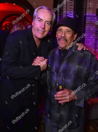 """Powers Boothe, left, and Danny Trejo attend the """"Sin City: A Dame to Kill For"""" premiere presented by Dimension Films in partnership with Time Warner Cable, Dodge and DeLeon Tequila at TCL Chinese Theatre, in Los Angeles"""