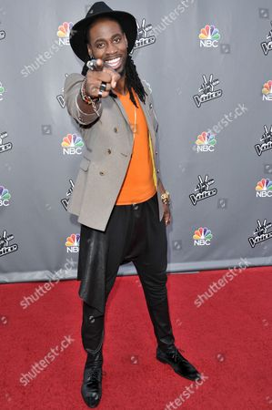 "Editorial picture of ""The Voice"" Top 12 Red Carpet Event, Universal City, USA - 15 Apr 2014"