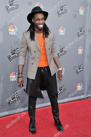 "Editorial image of ""The Voice"" Top 12 Red Carpet Event, Universal City, USA - 15 Apr 2014"