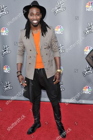 "Stock Image of Delvin Choice seen at ""The Voice"" Top 12 Red Carpet Event on in Universal City, Calif"